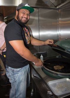 James Johnston from Saracens RFC takes a look at our Big Green Egg barbecue at The Beech House, St Albans