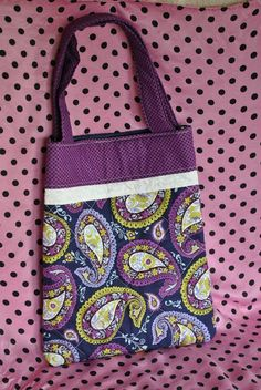 Items similar to Purple Paisley Bag on Etsy Small Tote Bags, Paisley, Polka Dots, Pouch, Reusable Tote Bags, Trending Outfits, Unique Jewelry, Purple, Handmade Gifts