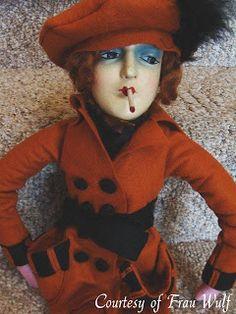 Frau Wulf's Boudoir Doll Blog: Composition & Cloth Boudoir Doll Smokers