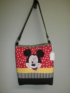 Perfect Christmas or Birthday  gift......Mickey Mouse small FUN purse by sewinit2atee on Etsy, $22.00