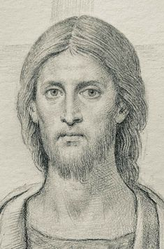 Painting Words, Jesus Painting, Religious Paintings, Religious Art, Christ Pantocrator, Pencil Portrait Drawing, Pictures Of Jesus Christ, Jesus Art, Byzantine Icons