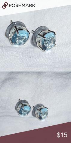 Silver and Blue Earrings Silver and Blue Earrings. Jewelry Earrings