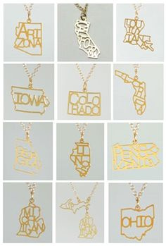 Kris Nations state necklace $42