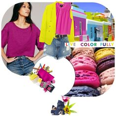 """live color fully"" by ladysnape on Polyvore"