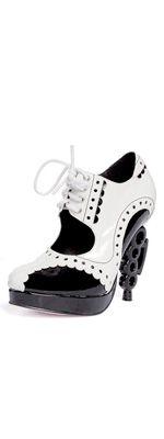 Leg Avenue Black & White Mafia Brass Knuckle Heels