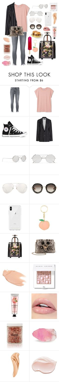 """Fashionable cries #diamondtears💎"" by jojogena ❤ liked on Polyvore featuring beauty, Frame, Converse, Haider Ackermann, Linda Farrow, Gucci, Rebecca Minkoff, Ted Baker, J.W. Anderson and Too Faced Cosmetics"