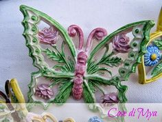 Le mie farfalle in ceramica...