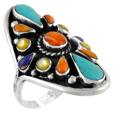 Navajo Signed Mba Sterling Silver Tear Drop Turquoise