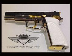 Browning 24 Karat teilvergoldet, Gold, Gold Plating, 24 K, Vergoldet, Elektro Plating