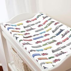 train changing pad: Baby#baby #changing #pad #train Baby Boy Room Decor, Baby Boy Rooms, Baby Boy Nurseries, Train Nursery, Car Nursery, Baby Changing Pad, Baby Boy Bedding, Carousel Designs, Nursery Inspiration