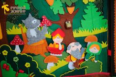 Little Red Riding Hood story in felt! This quiet book page is just fantastic. By Anastasia