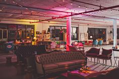 Found in NYC: Patina Vintage Rentals turned their Brooklyn office space into a Roller Rink, complete with skate rentals from Skate Truck NYC, disco balls, popcorn, and cocktails with Pop Rocks--AKA the loft party of your retro dreams.