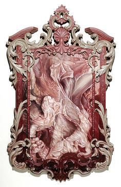 Los Angeles-based artist Victoria Reynolds's paintings of raw flesh, often set in ornate, rococo- or baroque-style frames, are unabashedly sumptuous and sensua… Sculpture Art, Sculptures, Meat Art, Kitsch Art, Flesh And Blood, Old Paintings, Baroque Fashion, Aesthetic Images, Dark Art