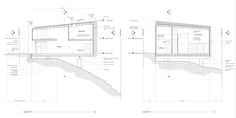 Image 24 of 28 from gallery of Big & Small House / Anonymous Architects. Sections Small Space Living, Living Area, Small Spaces, Compact, Wood Images, Wood Architecture, Big And Small, Wood Detail, Autocad