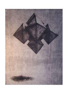 Helena Kalná, Flying Octahedrons, dry point