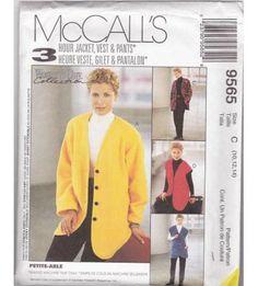 Petite-Able Women's Jacket Vest Pants Sewing Pattern