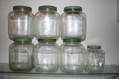 SEVEN MAGNIFICENT VINTAGE HOOSIER GLASS JARS | eBay
