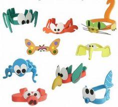 Goma Eva Can Tab Bracelet, Paper Bracelet, Paper Earrings, Foam Crafts, Diy And Crafts, Crafts For Kids, Arts And Crafts, Paper Crafts, Boy Headbands