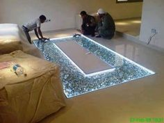 Amazing DIY Adding Glass Flooring With Pebble In Your Home - Engineering Discoveries Living Room Partition Design, Room Partition Designs, Ceiling Design Living Room, Home Room Design, Home Interior Design, Living Room Designs, Home Engineering, House Front Design, Glass Floor