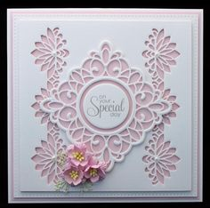 On Your Special Day by Dragonfly Cards - Cards and Paper Crafts at Splitcoaststampers Hand Made Greeting Cards, Making Greeting Cards, Greeting Cards Handmade, Spellbinders Cards, Birthday Cards For Women, Sue Wilson, Cardmaking And Papercraft, Die Cut Cards, Card Making Techniques