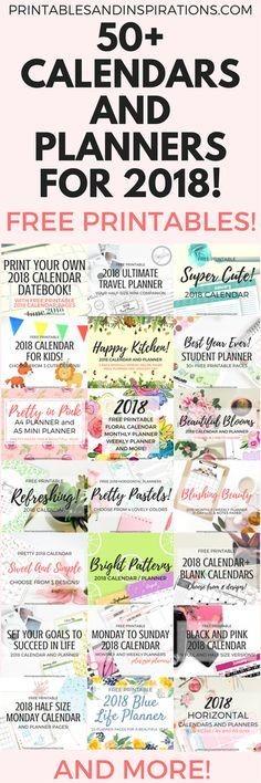 free printable calendars and planners for 2018 50 designs