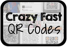 Crazy Fast QR Codes. If you use Chrome Browser add ShortenMe. Then right click content to create a QR Code.