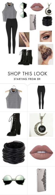 """Untitled #54"" by paigevjacobs on Polyvore featuring Topshop, Kendall + Kylie, Saachi, Lime Crime, Revo and Nanette Lepore"