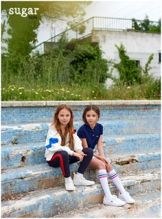 Emma & Alessandra from Sugar Kids for MilK mag by Eva Bozzo.