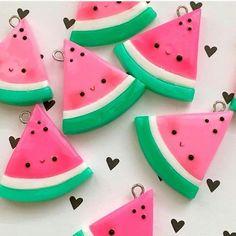 #kawaii #charms #polymer #clay #watermelon