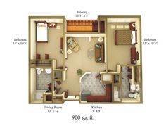 Home plans under 900 sq ft