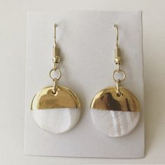Gold Dipped Earrings by TheCraftyCarvalho on Etsy