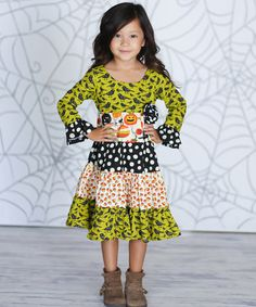 Love this Pumpkin Cameron Dress - Infant, Toddler & Girls by Jelly the Pug on #zulily! #zulilyfinds