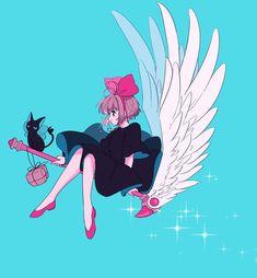 Card captor sakura as kiki Anime Sakura, Manga Anime, Anime Art, Cardcaptor Sakura, Syaoran, Shugo Chara, Girls Anime, Manga Girl, Illustrations
