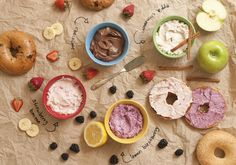 Bagel Bar!  This sounds like a lot of fun! Grab your selection of bagels, and mix up some fun cream cheese spreads in our Manual Food Processor! Mm-mmm! :)