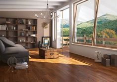 Talia - Aborea Series by BluStyle Ceramica Teak Wood, Backsplash, Countertops, Tile Floor, Sweet Home, House Design, Windows, Curtains, Flooring