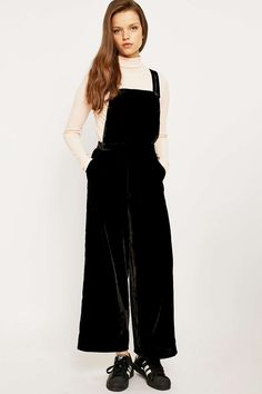 Urban Outfitters Velvet Pinafore Jumpsuit