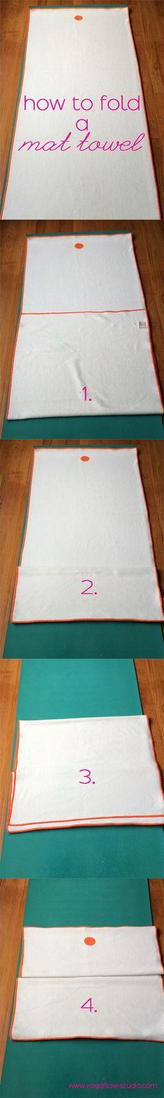 How to fold your yoga mat towel | www.yogaflow-studio.com