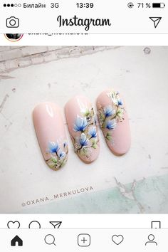 Flower Nail Designs, Flower Nail Art, Acrylic Nail Designs, Nail Art Designs, Karma Nails, Spring Nails, Summer Nails, Nail Art Set, Rose Nails