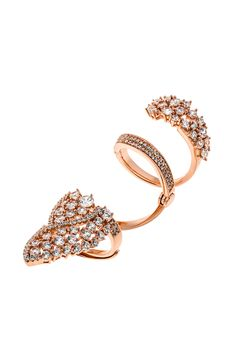 Δαχτυλίδι Sparkling Lady - #ring #beautiful #jewellery #woman #sparkle #fashion #white #stones Gold Rings, Stones, Sparkle, Rose Gold, Jewellery, Woman, Lady, Beautiful, Fashion