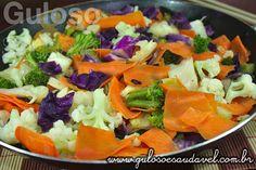 Receita de Teppan de Salmão com Legumes
