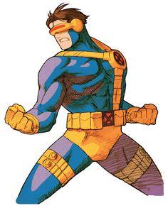 Cyclops (for Marvel Vs. Capcom 2). Art by Bengus.