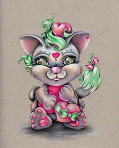 Lovely Kitty 8x10 Original