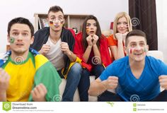 Photo about Portrait of young soccer fans during the watching match on TV. Image of interior, domestic, group - 39832835 Soccer Fans, Football Fans, Euro, Royalty Free Stock Photos, Portrait, Interior, Image, Top, Headshot Photography