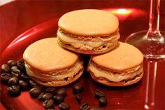 Coffee macarons with Baileys ganache