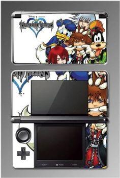 Kingdom Hearts Mickey Sora Keyblade Vinyl RPG Game Vinyl Decal Cover Skin Protector Kit 2 for Nintendo 3DS