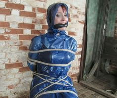 Girl Tied Up, Latex Catsuit, Rain Wear, Kinky, Feminism, Raincoat, Lady, How To Wear, Collection