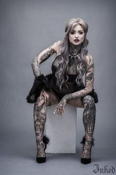 Ryan Ashley Malarkey won season eight of 'Ink Master' and shares her story with us. Along with some super sexy photos and her tattoos. Ryan Ashley Malarkey, Hot Tattoos, Body Art Tattoos, Girl Tattoos, Tattoos For Women, Tatoos, Tattooed Women, Irish Tattoos, Small Tattoos