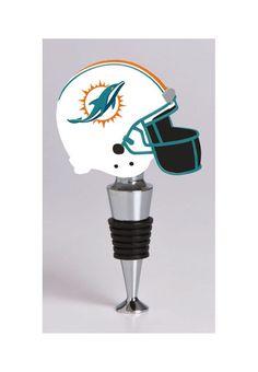 New! Miami Dolphins Football Helmet Wine Bottle Stopper #MiamiDolphins