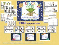 FREE Addition Start Unknown Space Math Problems