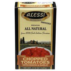 Alessi Chopped Tomatoes With Onion & Garlic (12x17.6 Oz)